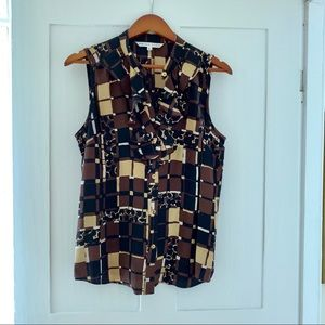 Trina Turk silk blouse, size large